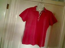 Authentic burberry corail à manches courtes t-shirt polo taille xxl 10 - 12