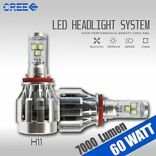 60W 7000LM CREE LED H11 Fog Light Lamp Xenon White 6000K High Power