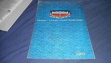 1969 Mercury Cyclone GT Montego Comet Color Brochure Catalog Prospekt
