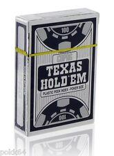 Jeu de 52 cartes POKER COPAG SILVER Edition 100% plastique Argent/Noir 4 peek
