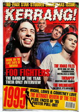 FOO FIGHTERS NIRVANA on cover of KERRANG UK 1995 Christmas issue