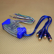 Car Stereo Audio Speaker Wire to 4 RCA Line Level Converter Adaptor High/Low