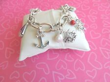 Brighton Bracelet Coastal Ocean Sea Anchor Shell Silver White NWT 98.00 last one