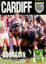 Cardiff V Bourgoin HEINEKEN Coupe d'Europe 11 oct 1997 rugby programme