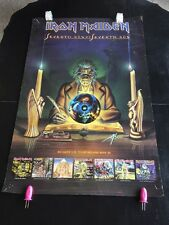 Iron Maiden Seventh Son Original Capitol Records 1988 Promo Poster Used As Is
