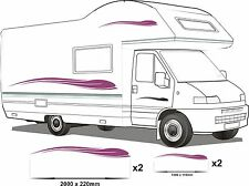 CAMPER VAN MOTORHOME VINYL GRAPHICS STICKERS DECALS SET RV CARAVAN HORSEBOX set6