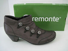 REMONTE Women's D1273-00 Annemarie 73 Ankle Boot Brown Leather Size EU 41,US 9.5