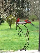 French DESIGN  style BIRD FEEDER BIRD bath  garden cottage antique brown  NEW