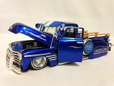 1951 Chevrolet 3100 Pickup Truck,1:24 Diecast, Collectible, Jada Toys, Blue, DSP