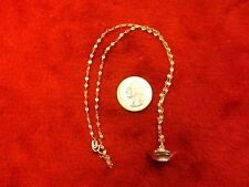 "AWESOME VTG LADIES STERLING SILVER ""NURSE HAT"" CHARM/PENDANT & ""FUNKY"" NECKLACE"