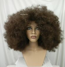 HUGE UNISEX Super Cool AFRO Wig .. Chestnut Brown and FREE Afro Pick!  *