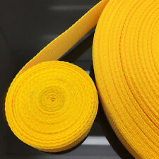 New Hot 10 Yards Length 38mm Wide Yellow Strap Nylon Webbing Strapping #NS39