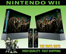 NINTENDO WII STICKER TEENAGE MUTANT NINJA TURTLES TMNT SKIN & 2 PAD SKINS