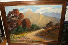 CHARLES A.CLIFFORD JR MOUNTAIN LANDSCAPE OIL ON CANVAS PAINTING