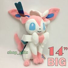 "Pokemon Plush Sylveon Fairy Soft Toy Stuffed Animal Doll Teddy 14""/35cm VERY BIG"