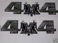 Ripped Head Digital Camo 4X4 BED SIDE Decals Decal Ram Chevy GMC 1500 2500 3500