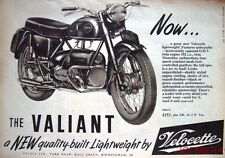 1957 Motor Cycle ADVERT - Velocette '192cc OHV Valiant' (£153 + P/Tax) Print AD