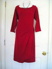 $189 NWT TALBOTS RED WOOL KNIT DRESS 3X 22W 24W (BD406wa)