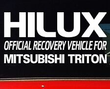 HILUX 4x4 Ute Canopy Bullbar Funny Stickers RECOVERY 200mm