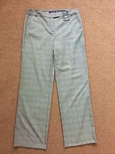 M&s  Grey Mix Relaxed Smart Trouser Pants Size 14 Long Bnwt Free Sameday Postage