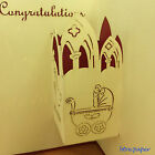 baby new born birth pop up 3D card gift greeting card congratulations boy girl