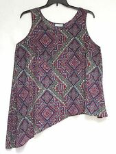NWT Harper & Liv Tank Top 1X Moroccan Cool Exotic Print Layering NEW Cat Rescue