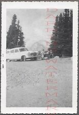 Vintage Car Photo 1955 Nash Rambler Cross Country Wagon on Roadside 706424