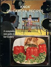 Vtg KNOX Gelatine On-Camera Recipes Guide to Gel-Cookery Cook Book Advertisement