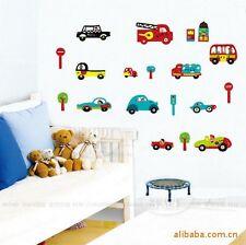 Various Car Bus Fireman Police Car Wall Decal Sticker Home Decor Vinyl Kids