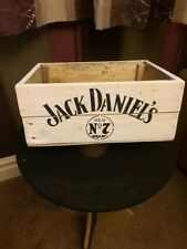 Jack daniels hand made retro urban chic  apple crate wooden box