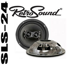 "Retrosound r-65n 6,5"" 165mm 100w DVC-coaxial altavoces retro Design cromado"