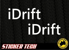 2x iDrift STICKER DECAL TO SUITS RC 1:10 1:8 SCALE DRIFT DRIFTING JDM TRACK CAR