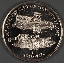 """Isle of Man 2003 """"100th Anniversary of Powered Flight"""" 1 Ceown Coin"""