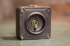 VINTAGE INDUSTRIAL 1 WAY CRABTREE LIGHT SWITCH TOGGLE BRASS CAST IRON!!