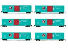 Rivarossi Great Northern Sliding Door Box Car HO Scale Train Car - Set Of 6 Cars