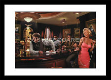 Marilyn Monroe Elvis Presley James Dean Bar Famous Framed Print Picture Poster