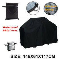 "57""X24""X46"" Black Waterproof BBQ Cover Barbecue Cover Grill Cover Protector GE"