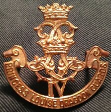 4th PRINCESS LOUISE DRAGOON GUARDS WWII cap badge Canada WW2 Canadian SMALL IV