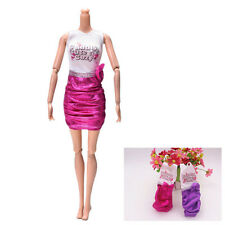 Package Hip Skirt for Barbie Doll Rose Bow Dress Fashion Cloth Children Toys UOZ