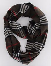 LOT OF NEW WOMEN HIGH QUALITY PLAIDS & CHECKS CASHMERE INFINITY COWL SCARF