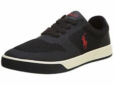 POLO Ralph Lauren -HELLIDON -Men's Casual Shoes Sneakers -Black Mesh -Size