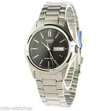 Casio MTP1239D-1A Mens Black Dial Stainless Steel Dress Watch Modern Day/Date