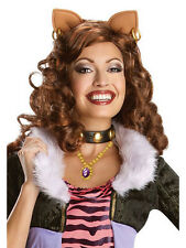 Adult Monster High Clawdeen Wolf Fancy Dress Wig Halloween Werewolf Ladies BN