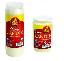 10x 9 DAY Candles & 10x 3 DAY Candles... tall pillar single wick Memorial candel
