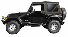 1999-2006 JEEP WRANGLER REPLACEMENT BLACK SOFT TOP TINT WINDOWS 1 YEAR WARRANTY