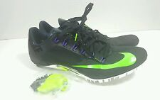 Nike Zoom Superfly R4 Sprint Track Shoes Cleats Black/Green Mens Size 11