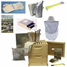 Deluxe bee hive starter kit beginners pros supplies frames gloves smoker colony