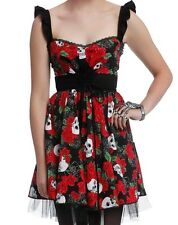 GOTHIC ROSE SKULL DAY OF THE DEAD DIA DE LOS MUERTOS DRESS NWT SZ LG HALLOWEEN