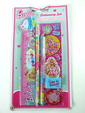 Barbie Stationery Set With Ruler Sharpener, Pencil Gel Pen Stickers Eraser