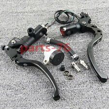"7/8"" Motorcycle Universal Radial Brake Master Cylinder Clutch Reservoir Levers"